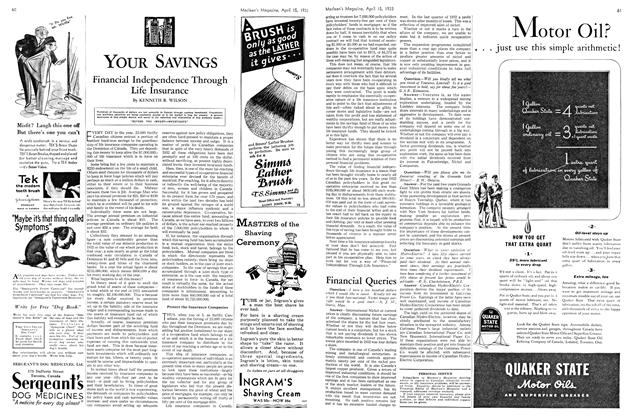 Article Preview: Financial Independence Through Life Insurance, April 15th 1933 | Maclean's
