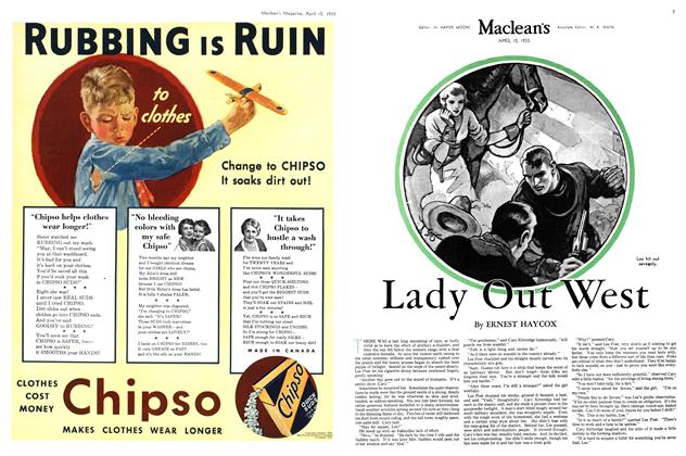 Article Preview: Lady Out West, April 15th 1933 | Maclean's