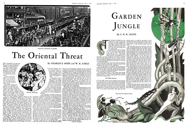 Article Preview: The Oriental Threat, May 1st 1933 | Maclean's