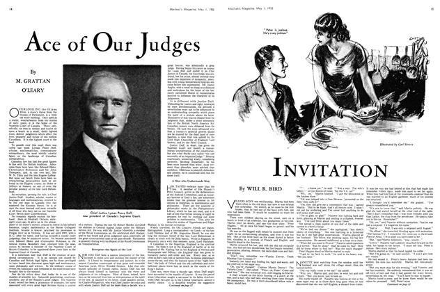 Article Preview: Ace of Our Judges, May 1st 1933 | Maclean's