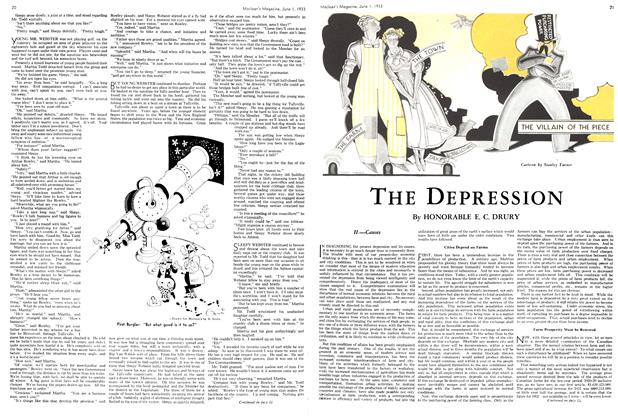 Article Preview: THE DEPRESSION, June 1933 | Maclean's