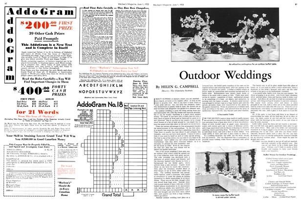 Article Preview: Outdoor Weddings, June 1933 | Maclean's
