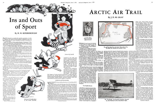 Article Preview: Ins and Outs of Sport, June 1933 | Maclean's