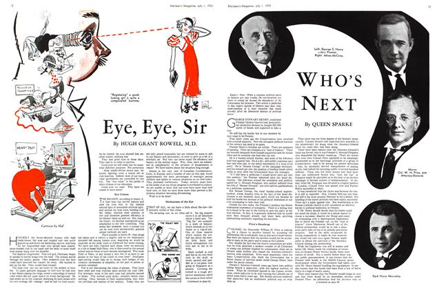 Article Preview: Eye, Eye, Sir, July 1st 1933 1933 | Maclean's