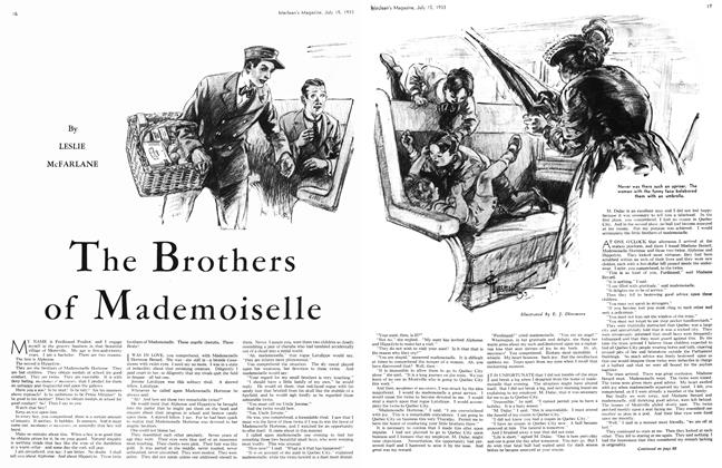 Article Preview: The Brothers of Mademoiselle, July 15th 1933 1933 | Maclean's