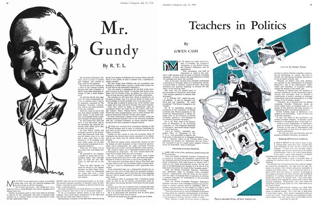 Article Preview: Mr. Gundy, July 15th 1933 1933 | Maclean's