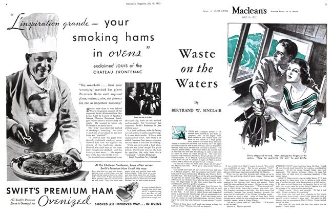 Article Preview: Waste on the Waters, July 15th 1933 1933 | Maclean's