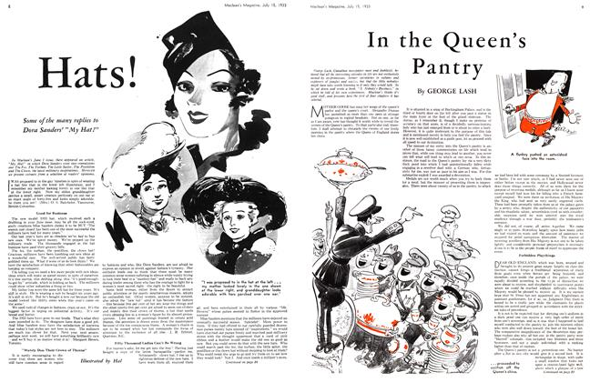 Article Preview: Hats!, July 15th 1933 1933 | Maclean's