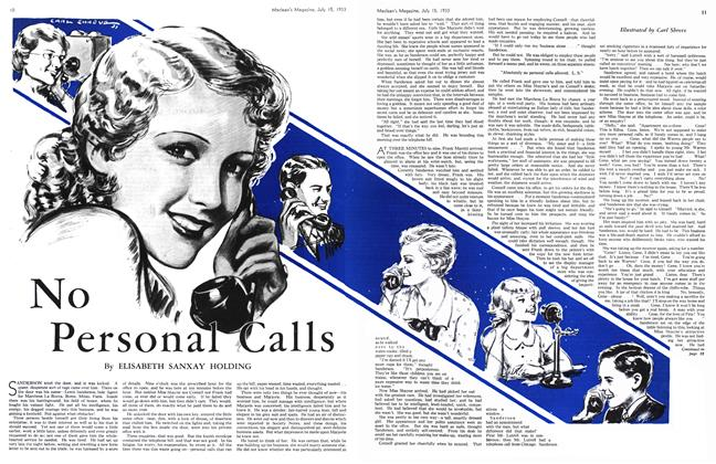 Article Preview: No Personal Calls, July 15th 1933 1933 | Maclean's