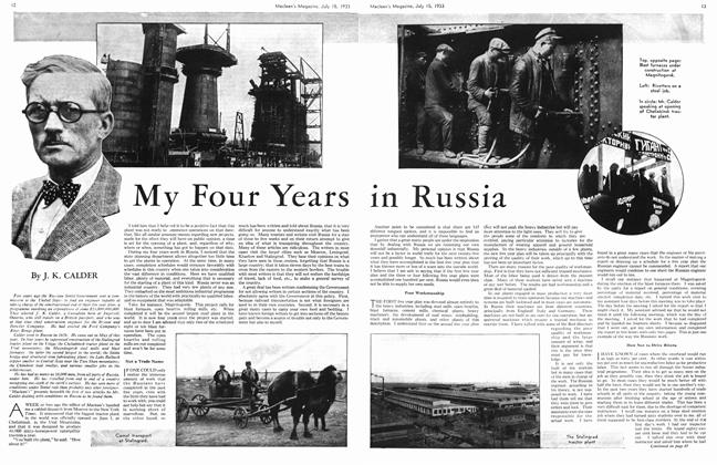 Article Preview: My Four Years in Russia, July 15th 1933 1933 | Maclean's