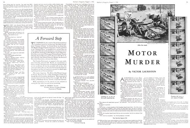 Article Preview: MOTOR MURDER, August 1st 1933 1933 | Maclean's