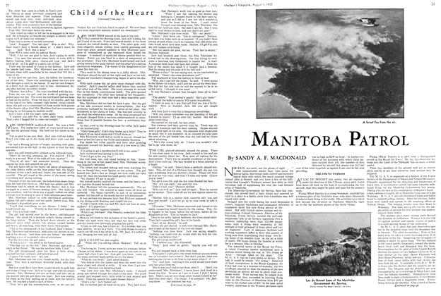 Article Preview: MANITOBA PATROL, August 1st 1933 1933 | Maclean's