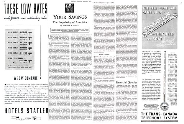 Article Preview: The Popularity of Annuities, August 1st 1933 1933 | Maclean's