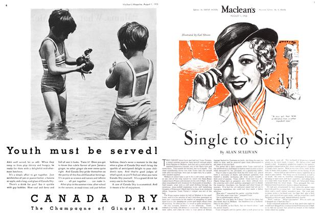 Article Preview: Single to Sicily, August 1st 1933 1933 | Maclean's