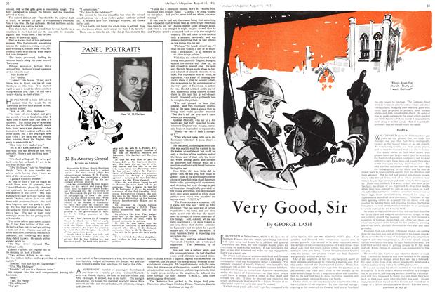Article Preview: Very Good, Sir, August 15th 1933 1933 | Maclean's