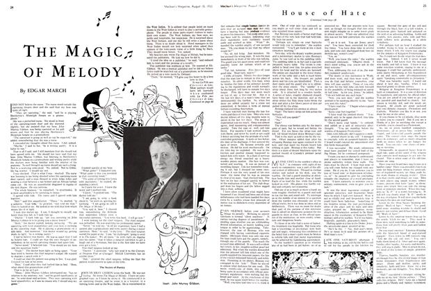 Article Preview: THE MAGIC OF MELODY, August 15th 1933 1933 | Maclean's