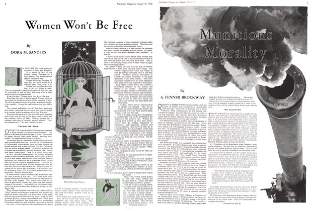 Article Preview: Women Won't Be Free, August 15th 1933 1933 | Maclean's