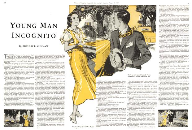 Article Preview: YOUNG MAN INCOGNITO, August 15th 1933 1933 | Maclean's