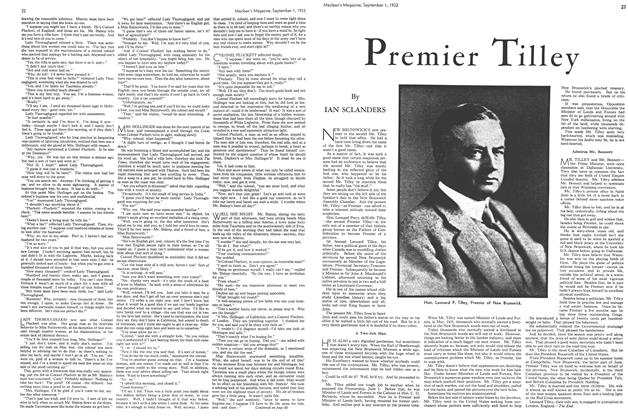 Article Preview: Premier Tilley, September 1933 | Maclean's