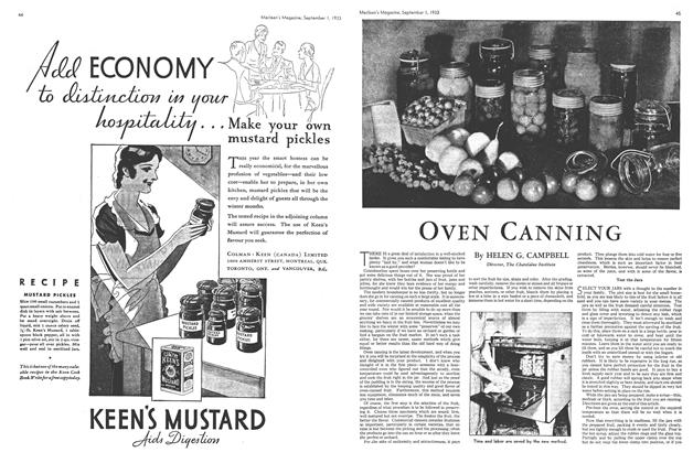 Article Preview: OVEN CANNING, September 1933 | Maclean's