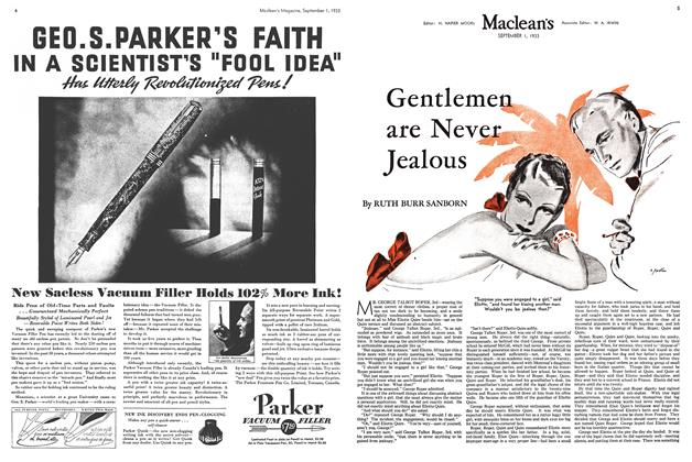 Article Preview: Gentlemen are Never Jealous, September 1933 | Maclean's