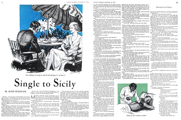 Article Preview: Single to Sicily, September 1933 | Maclean's