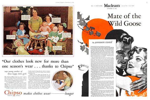 Article Preview: Mate of the Wild Goose, September 1933 | Maclean's