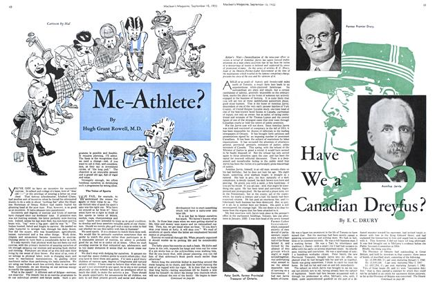 Article Preview: Have We a Canadian Dreyfus?, September 1933 | Maclean's