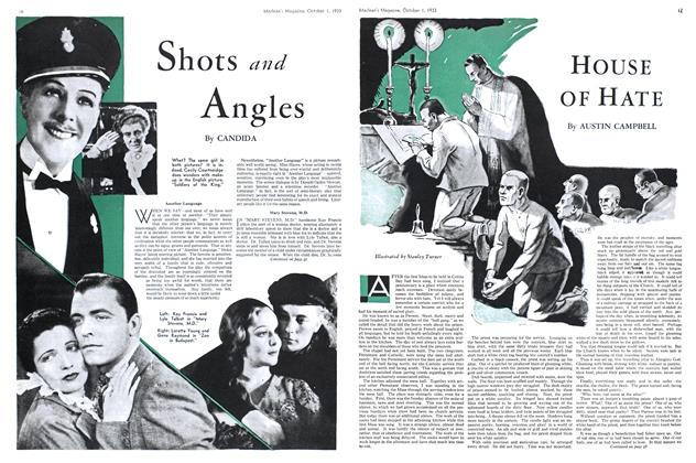 Article Preview: Shots and Angles, October 1st 1933 1933 | Maclean's