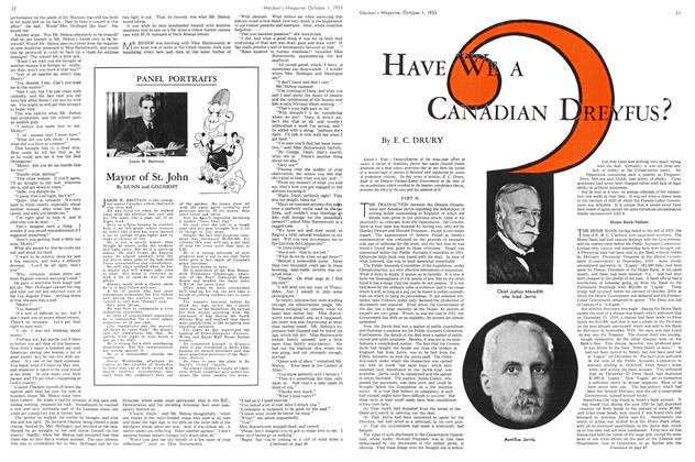 Article Preview: HAVE WE A CANADIAN DREYFUS?, October 1st 1933 1933 | Maclean's