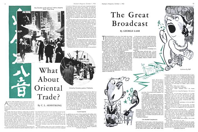 Article Preview: The Great Broadcast, October 1st 1933 1933 | Maclean's