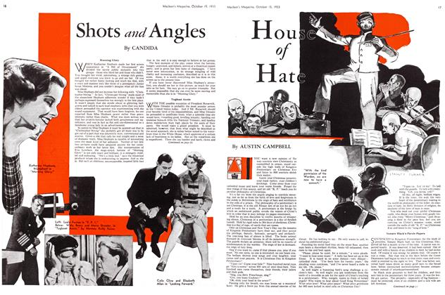Article Preview: Shots and Angles, October 15th 1933 | Maclean's