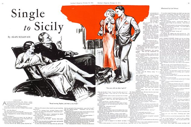 Article Preview: Single to Sicily, October 15th 1933 | Maclean's