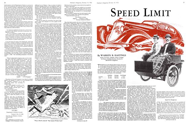 Article Preview: SPEED LIMIT, October 15th 1933 | Maclean's