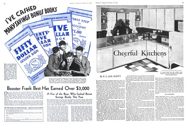 Article Preview: Cheerful Kitchens, October 15th 1933 | Maclean's