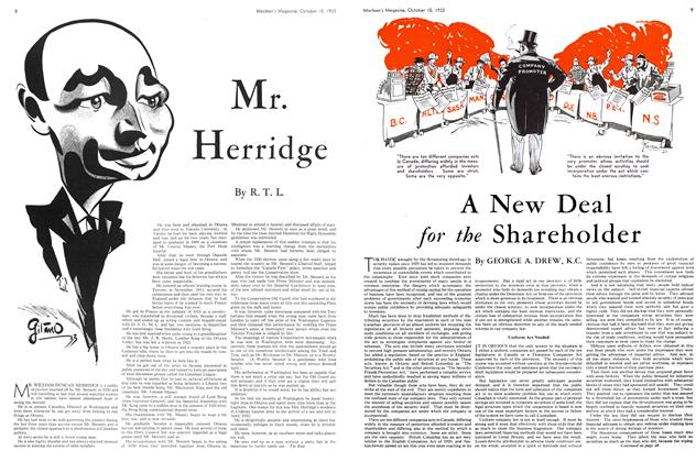 Article Preview: A New Deal for the Shareholder, October 15th 1933   Maclean's
