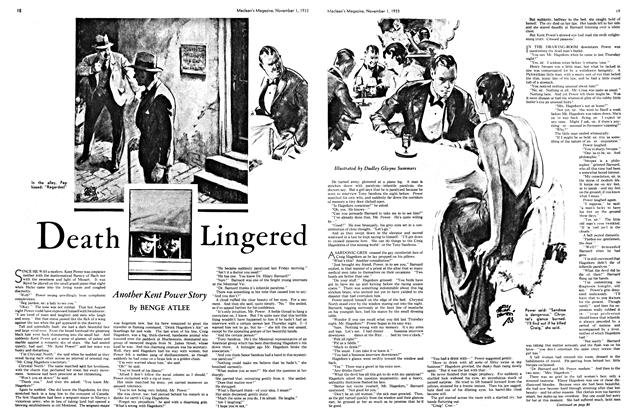 Article Preview: Death Lingered, November 1st 1933 | Maclean's