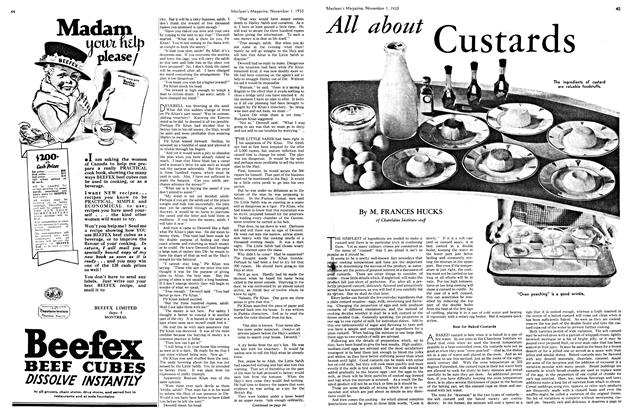 Article Preview: All about Custards, November 1st 1933 | Maclean's