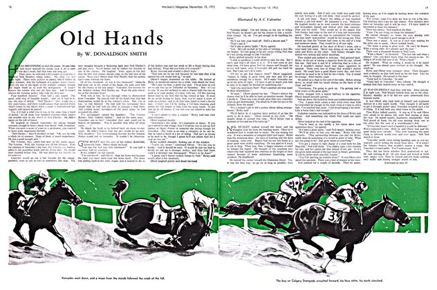 Article Preview: Old Hands, November 1933 | Maclean's