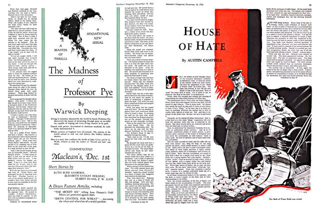 Article Preview: Hous OF HATE, November 1933 | Maclean's