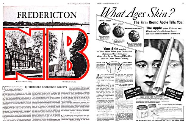Article Preview: FREDERICTON, November 1933 | Maclean's