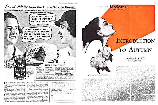 Article Preview: INTRODUCTION TO AUTUMN, November 1933 | Maclean's