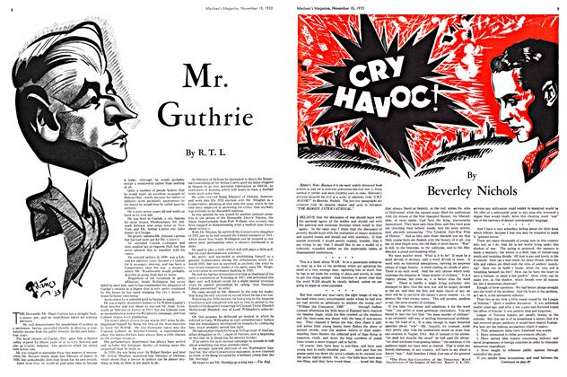 Article Preview: Mr. Guthrie, November 1933 | Maclean's
