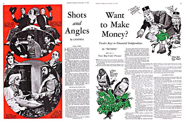 Article Preview: Shots and Angles, November 1933   Maclean's