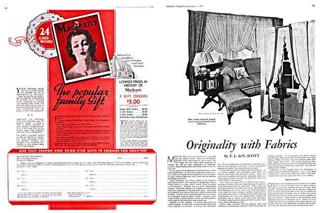 Article Preview: Originality with Fabrics, December 1933 | Maclean's
