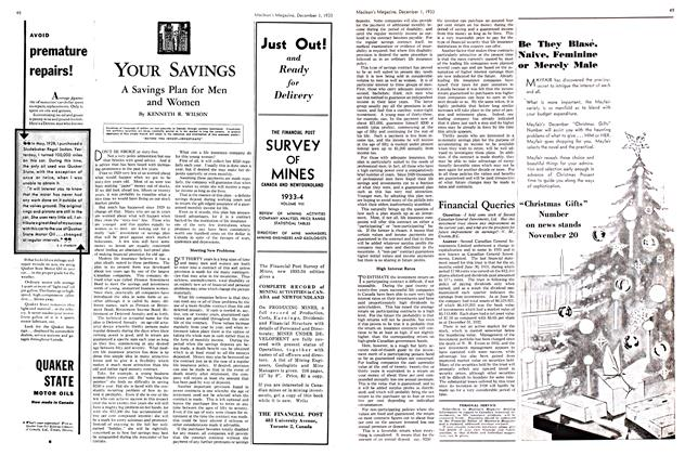 Article Preview: A Savings Plan for Men and Women, December 1933 | Maclean's