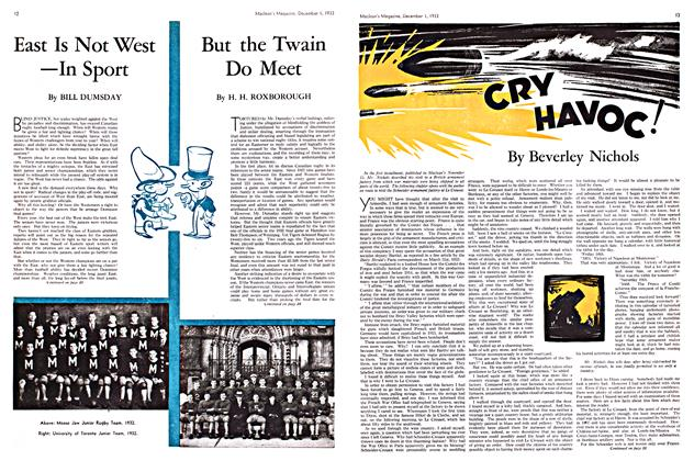 Article Preview: CRY HAVOC!, December 1933 | Maclean's