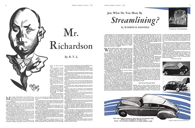 Article Preview: Just What Do You Mean By Streamlining?, January 1934 | Maclean's