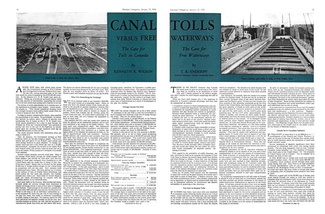 Article Preview: CANAL VERSUS FREE, January 1934 | Maclean's