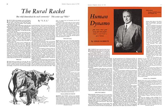 Article Preview: Human Dynamo, January 1934 | Maclean's